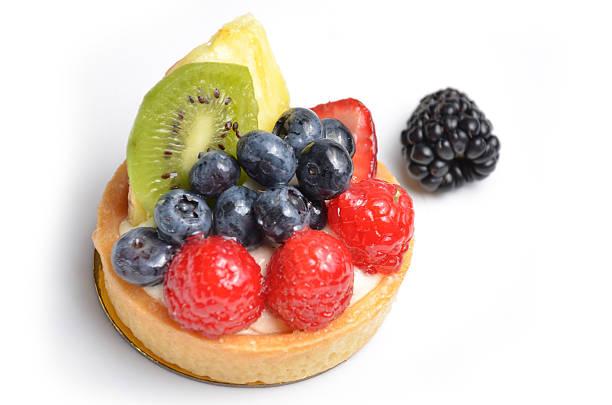 crostata di bosco - frutto tropicale foto e immagini stock