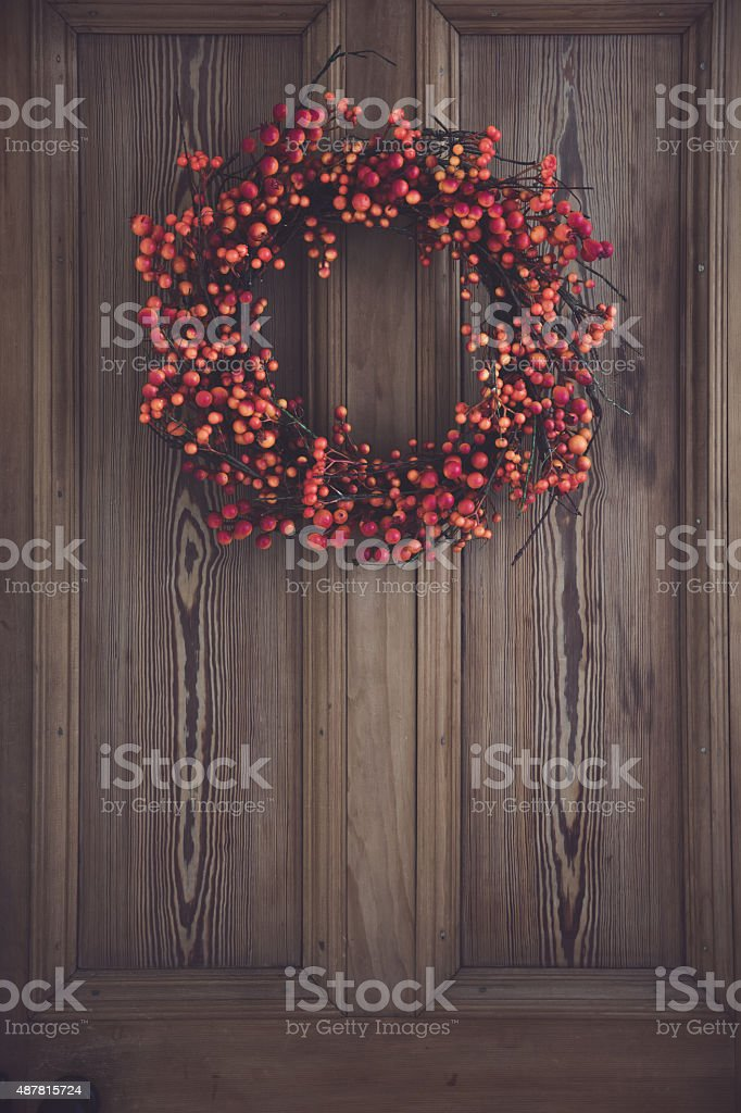 Berry wreath stock photo