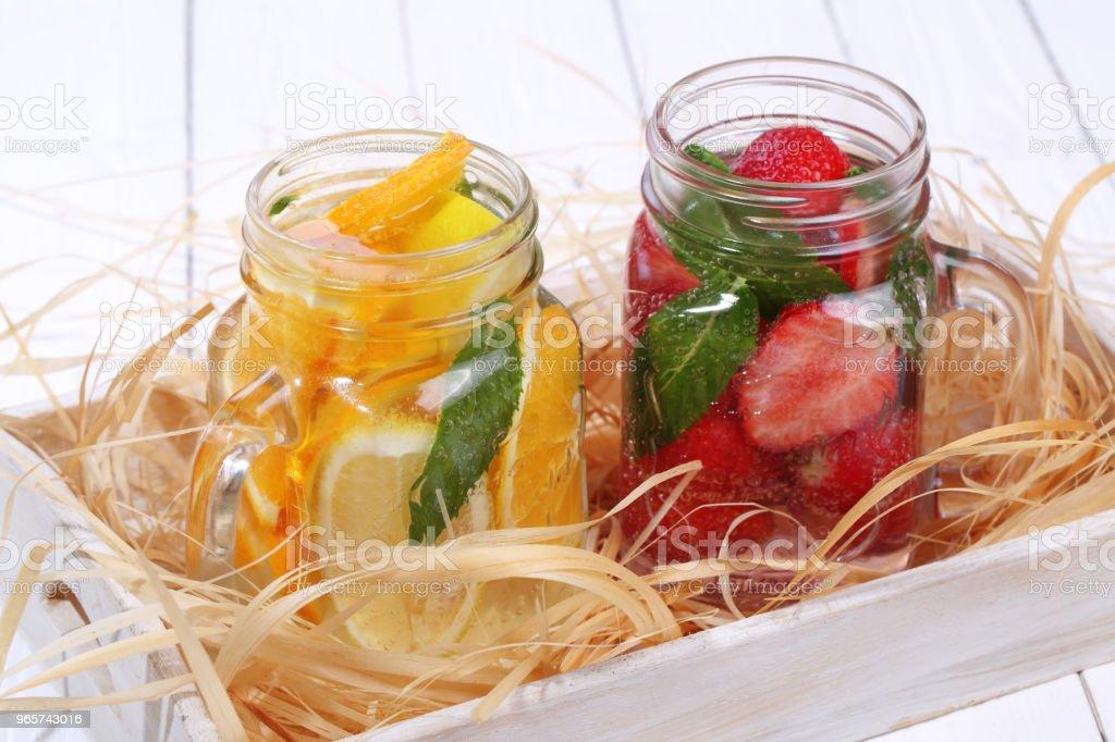 Berry-vruchtencocktails - Royalty-free Aardbei Stockfoto