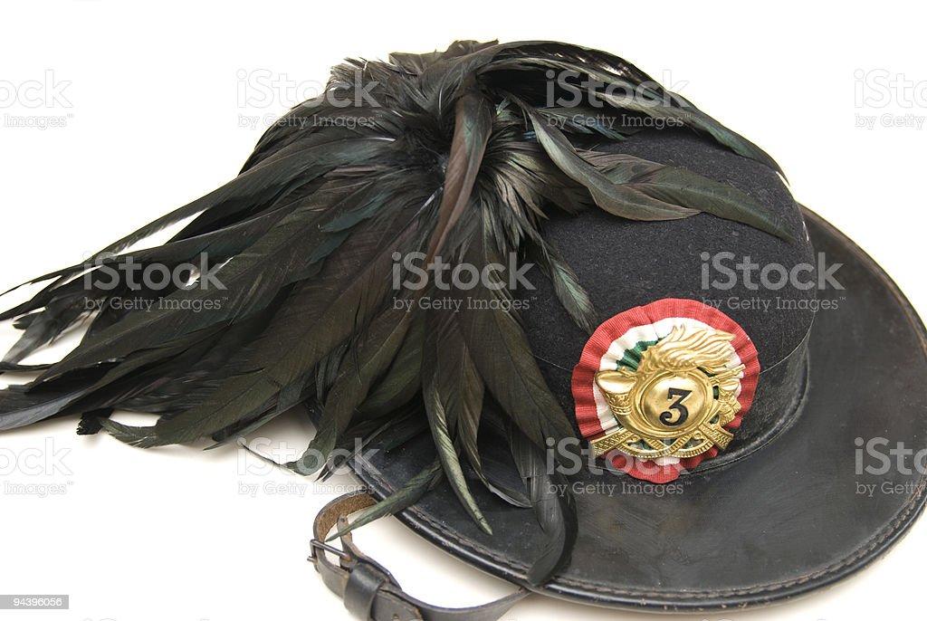 bersaglieri's hat royalty-free stock photo