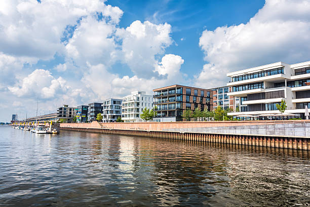 Überseestadt Bremen (Eurohafen) stock photo