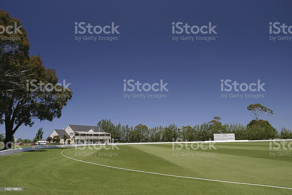 Bert Sutcliffe Oval, cricket Ground stock photo