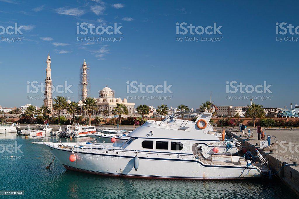 Berth in Hurghada. Egypt. royalty-free stock photo