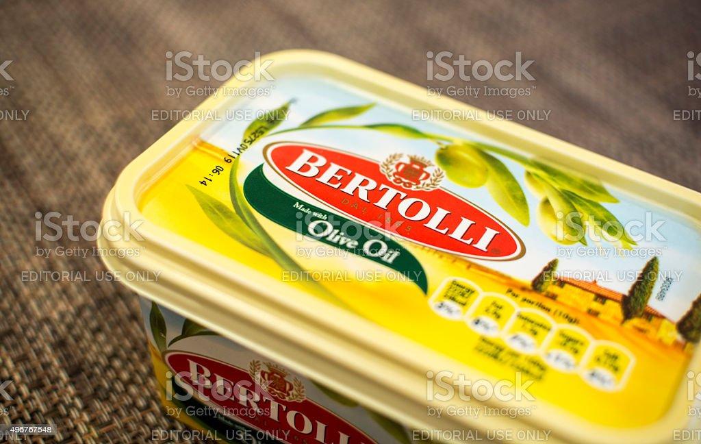 Bertolli Olice Oil Spread stock photo