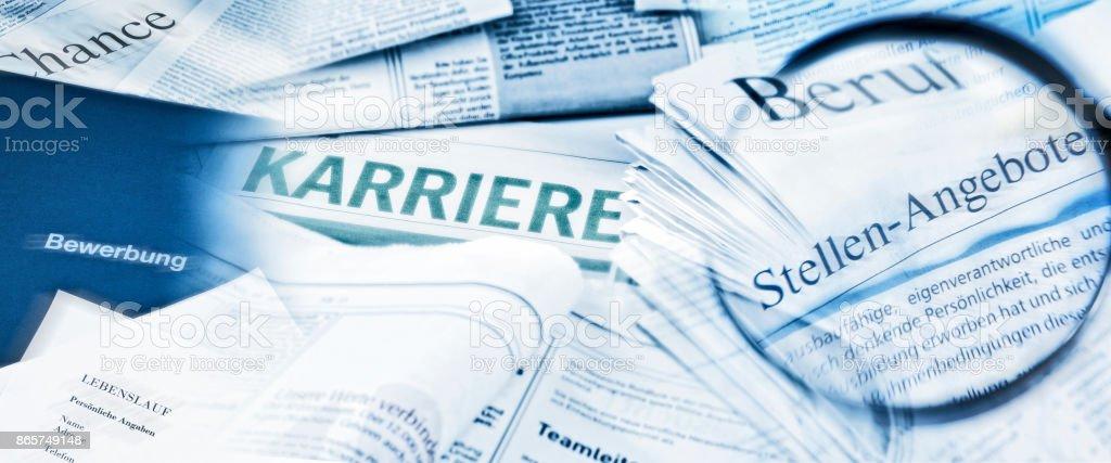 Berufswahl Und Karriere - Lizenzfrei Angebot und Nachfrage Stock-Foto