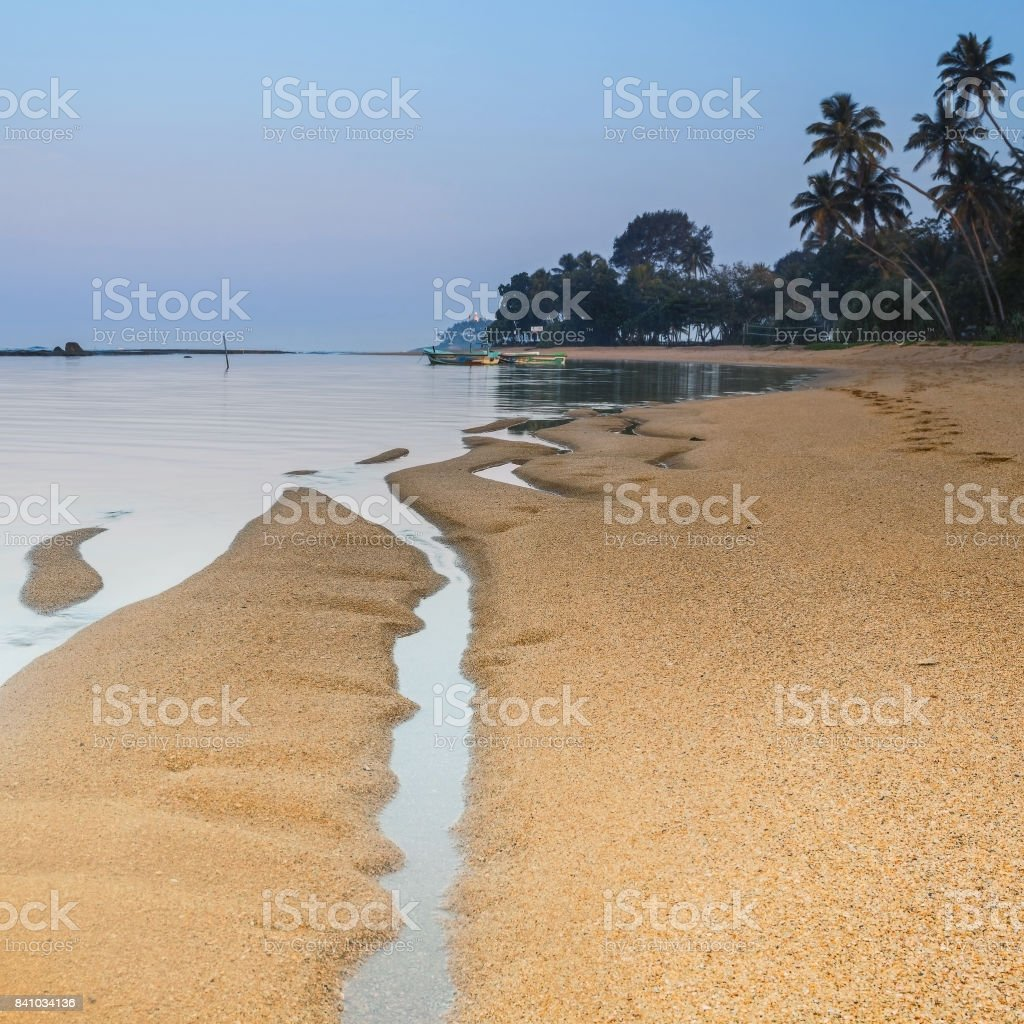 Beruwala, SRI LANKA. Beach Moragalla stock photo