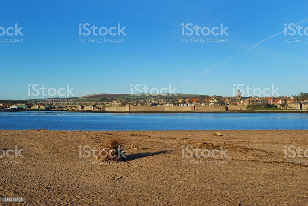 Berwick upon Tweed in mid winter stock photo