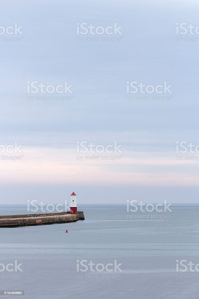 Berwick upon Tweed - Lighthouse stock photo