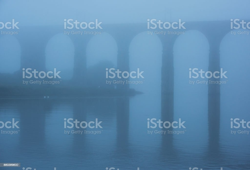 Berwick upon Tweed railway Viaduct stock photo