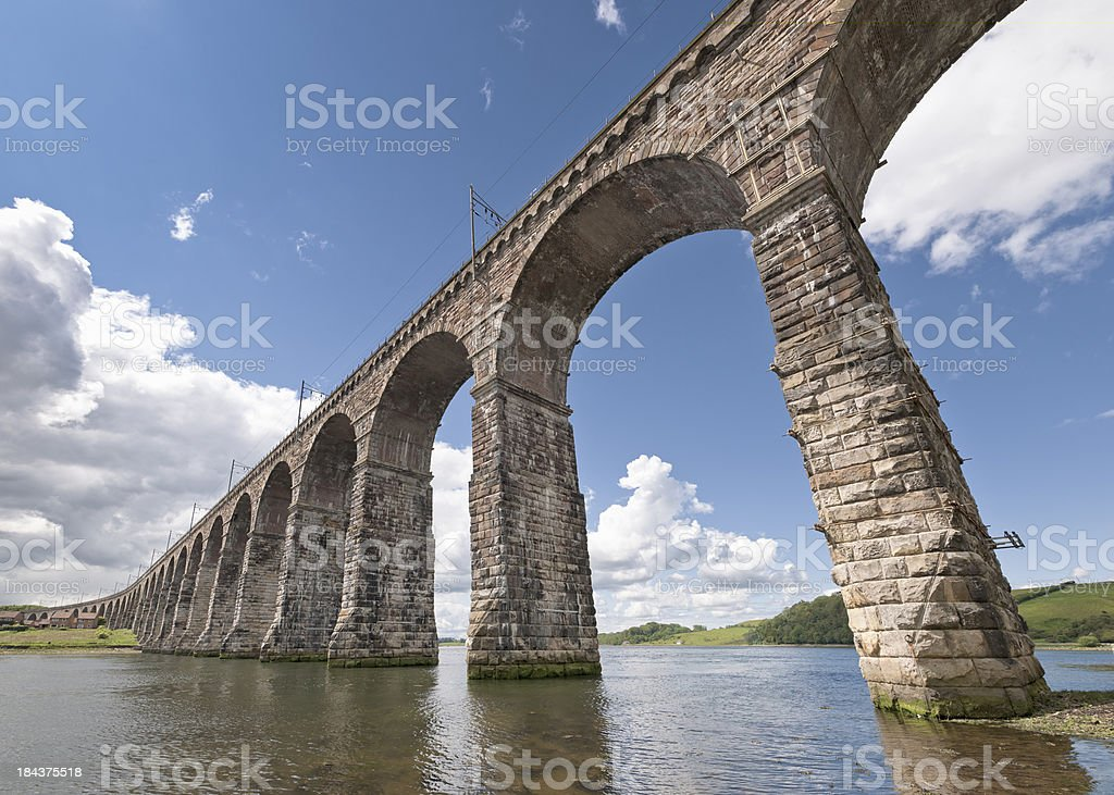 Berwick Viaduct in Wide Angle View stock photo