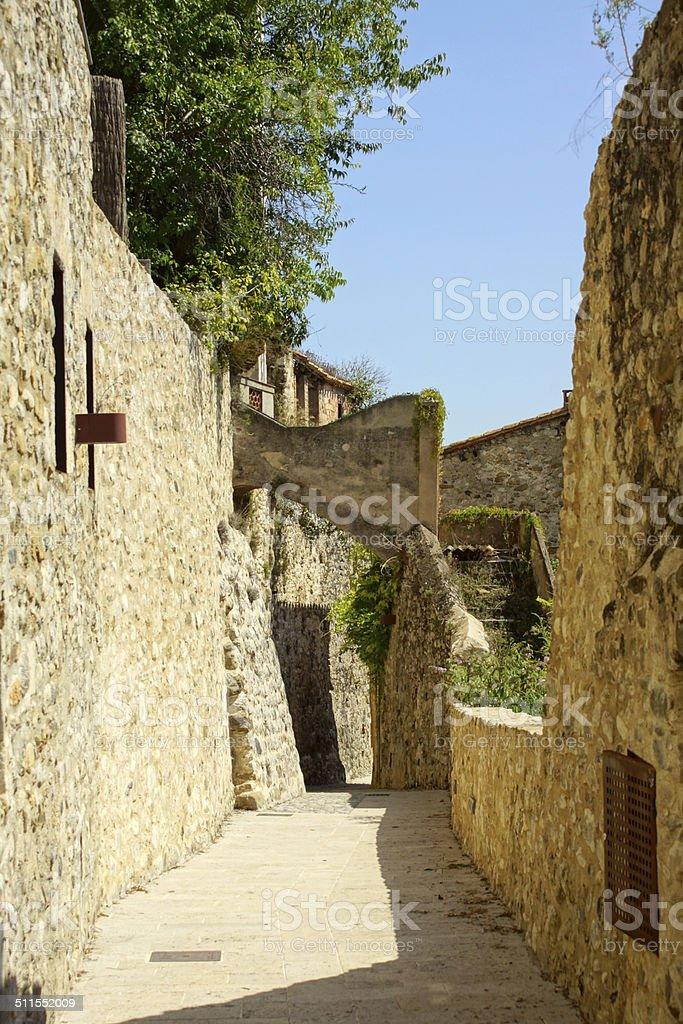 Besalú - Streetview stock photo