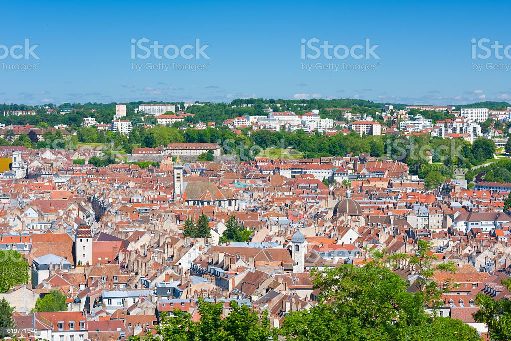 Besancon in a sunny summer day stock photo