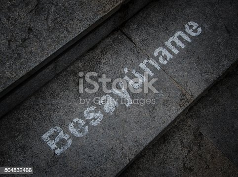 506166130 istock photo Besayúname, poetic word-creation stencil-painted on pavement 504832466