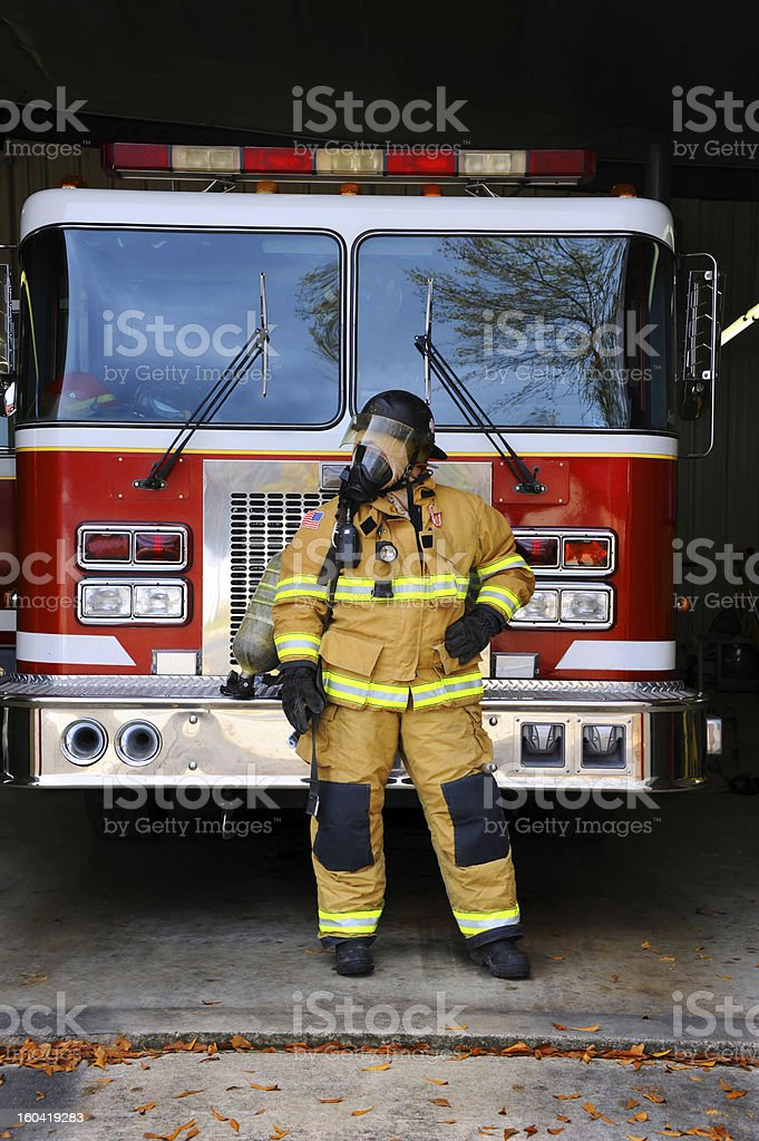 Beside Firetruck royalty-free stock photo