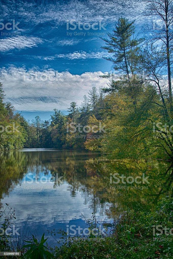 Beside Still Water stock photo