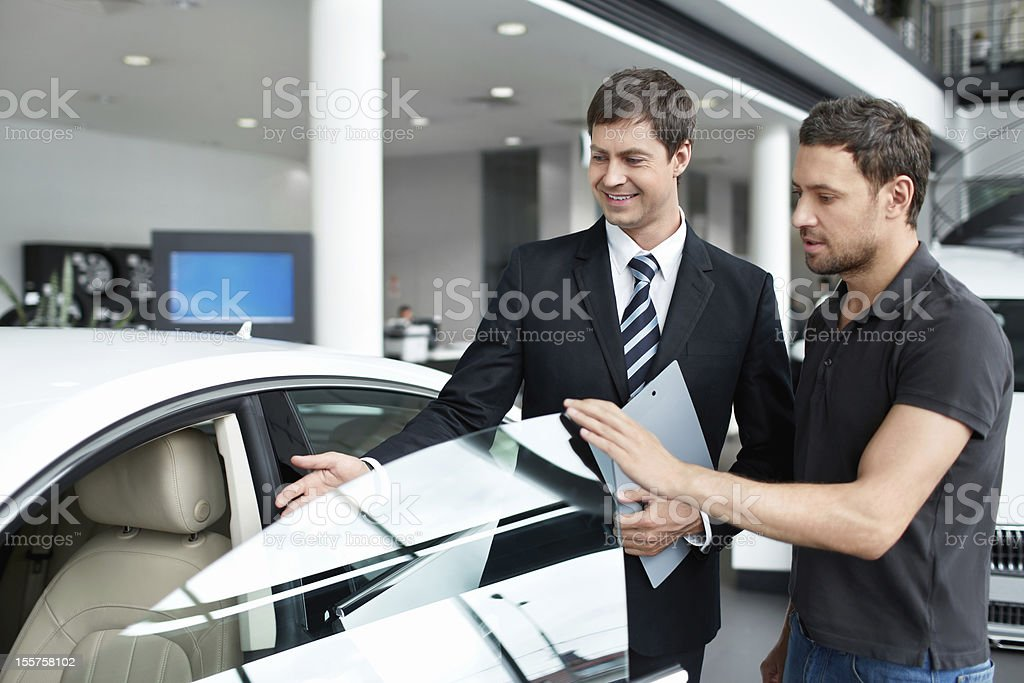 Beside the car royalty-free stock photo