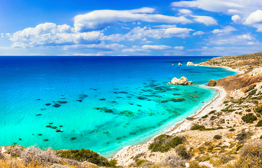 istock Best beaches of Cyprus island - Petra tou Romiou, famous as a birthplace of Aphrodite 1141739528
