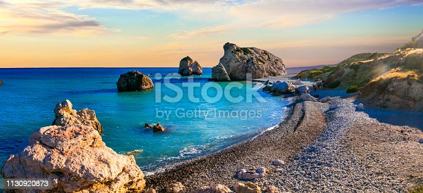 istock Best beaches of Cyprus - Petra tou Romiou, famous as a birthplace of Aphrodite 1130920873