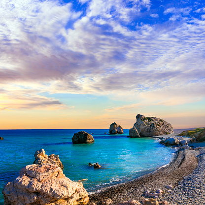 istock Best beaches of Cyprus - Petra tou Romiou, famous as a birthplace of Aphrodite 1130920876