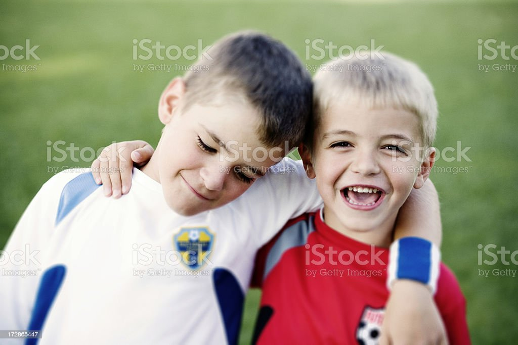 Best Buddies royalty-free stock photo