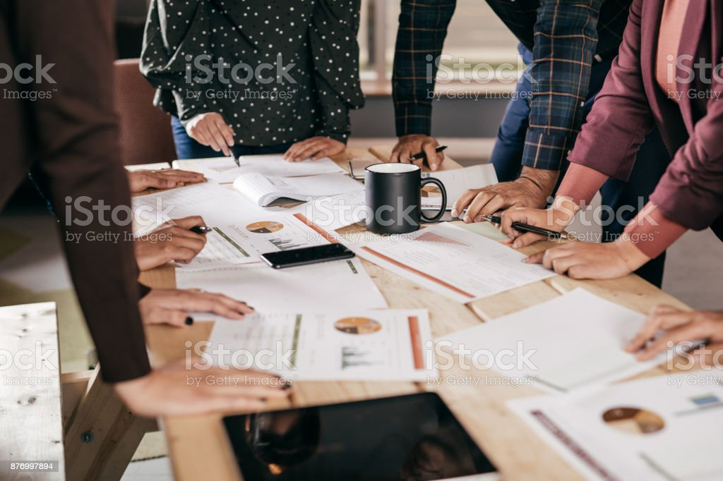 Best business concept photo representing brainstorm in the company stock photo