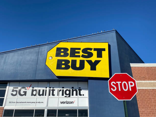 Best Buy Sign in New Jersey stock photo