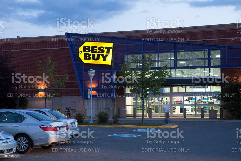 Best Buy Store at dusk stock photo