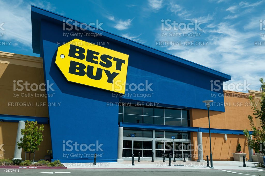 Best Buy Store Front royalty-free stock photo