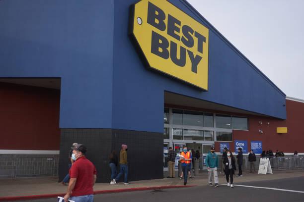 best buy store en black friday - black friday sale fotografías e imágenes de stock