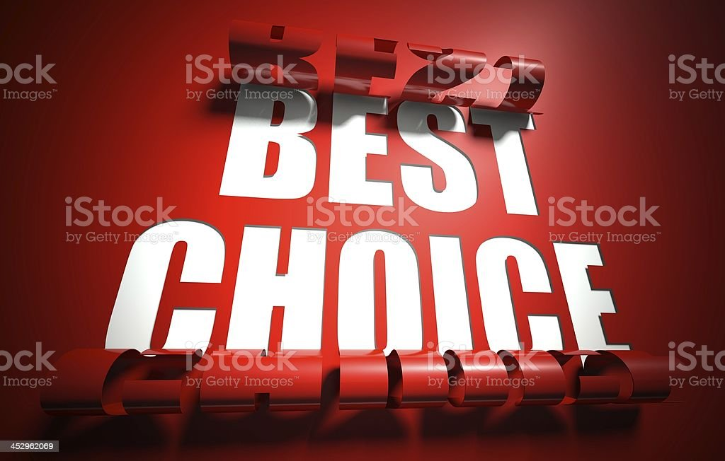 Best choice concept, cut out in background royalty-free stock photo