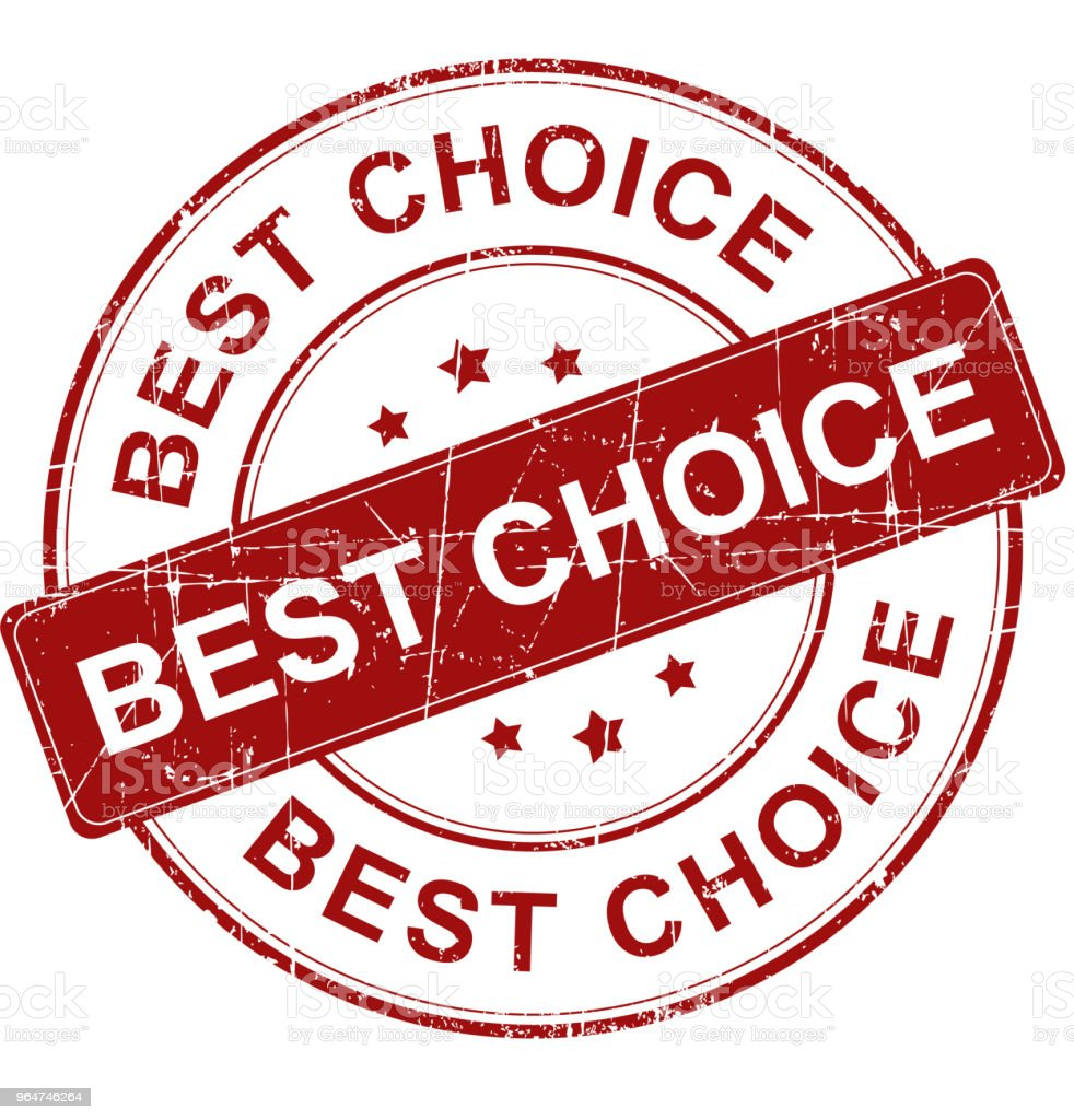 Best choice stamp royalty-free stock photo