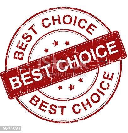 istock Best choice stamp 964746264