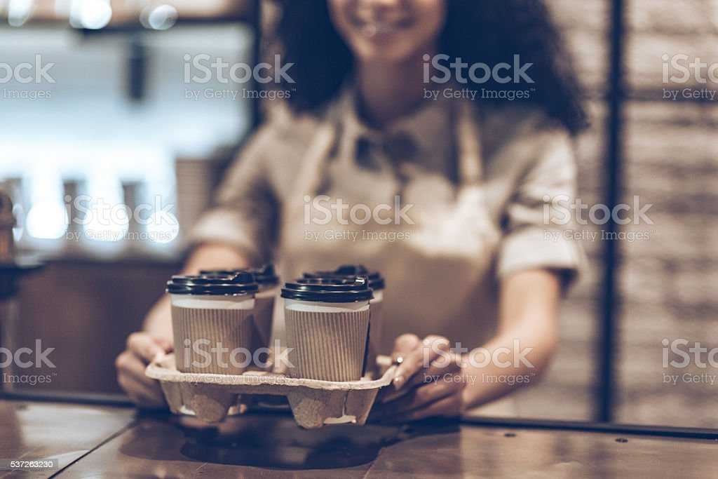 Best coffee to go! stock photo