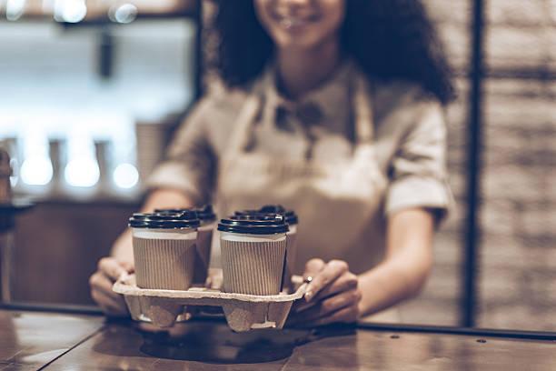 Best coffee to go! stock photo