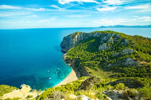 istock Best Coll Baix Mallorca Island Tropical Beach Panorama, Alcudia 614981286