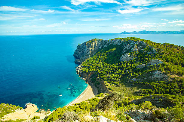 Best Coll Baix Mallorca Island Tropical Beach Panorama, Alcudia - foto stock