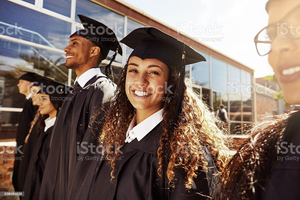 Best day of my student life stock photo