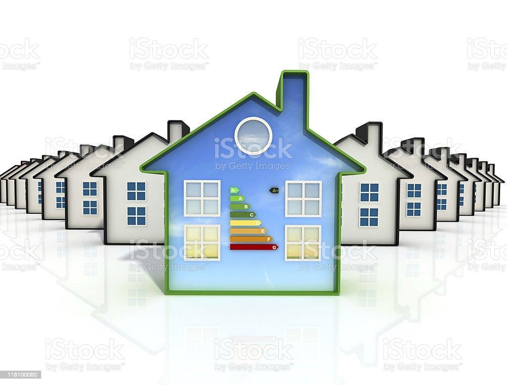 best eco  house stock photo