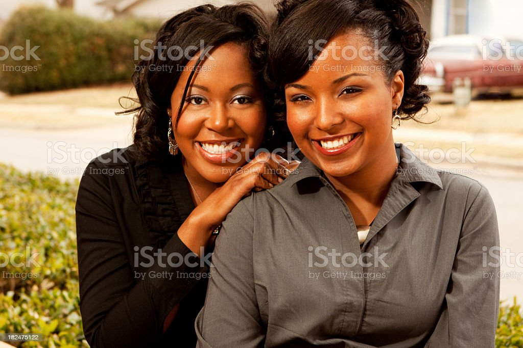 Best friends and sisters royalty-free stock photo