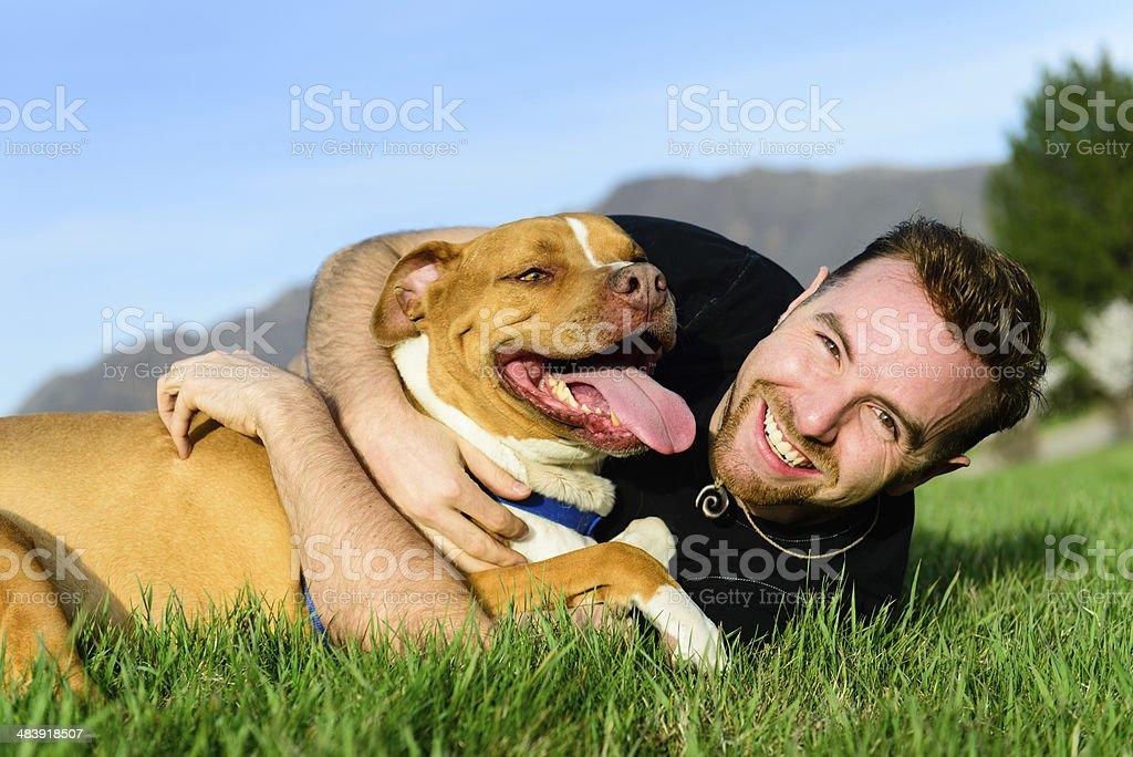 Mejores a amigos-perro - foto de stock