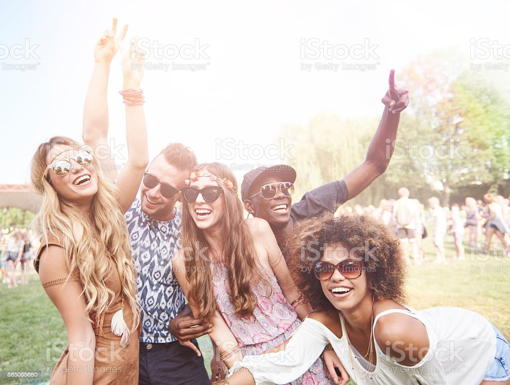 Best friends during the festival time stock photo