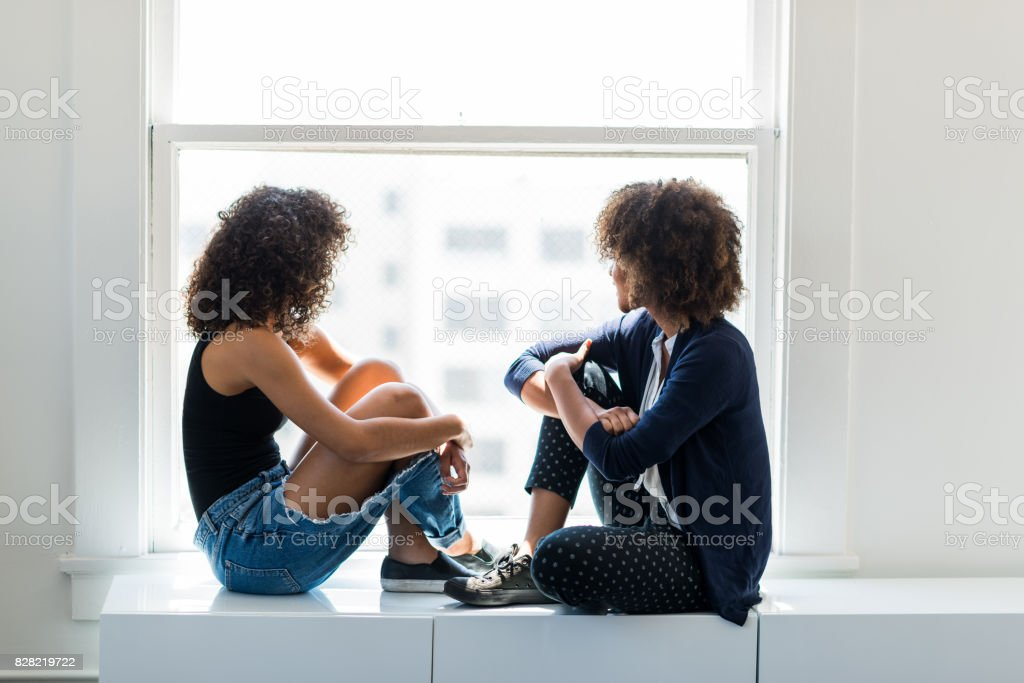 Best Friends Hanging Out Together stock photo