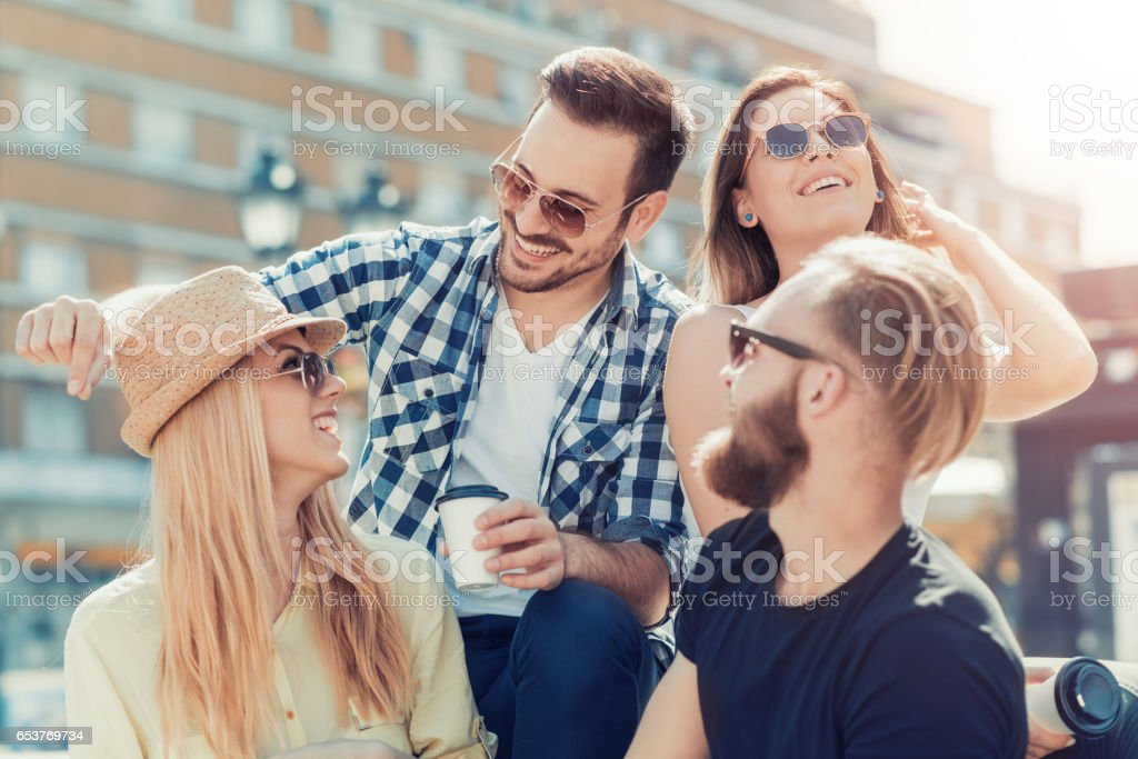 Best friends having fun together stock photo