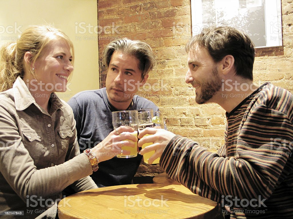 Best friends in a bar royalty-free stock photo