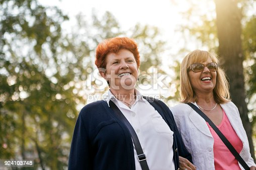 istock Best friends in park on sunny day 924103748