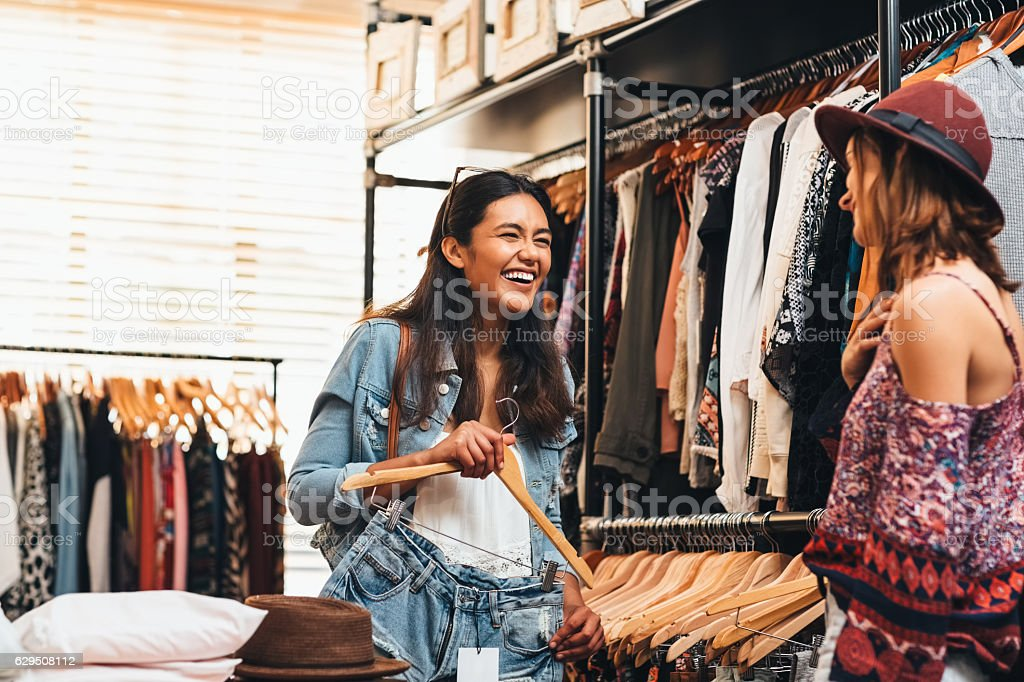 Best friends make the best shopping mates stock photo
