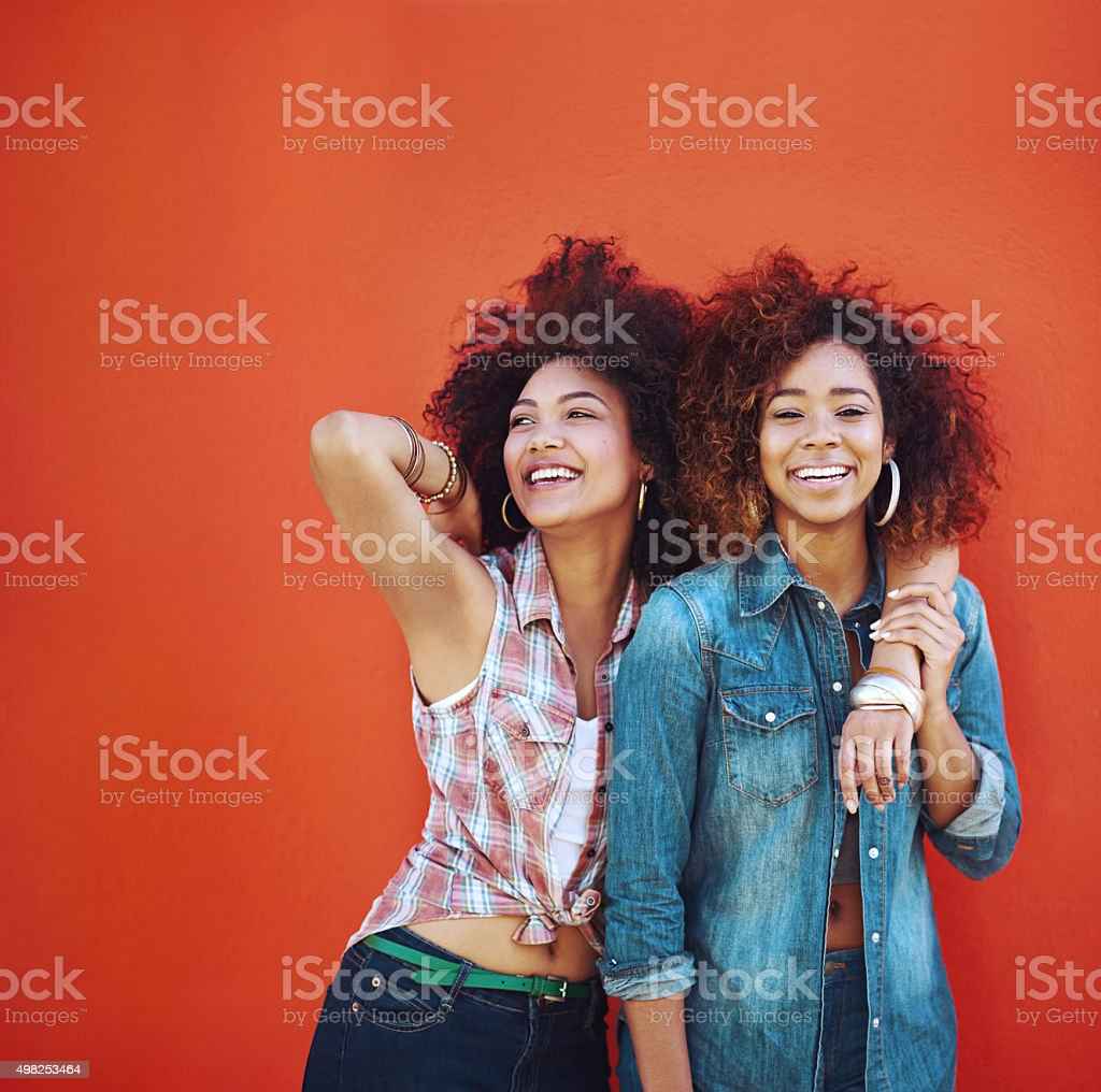 Best friends make the happy times even happier stock photo