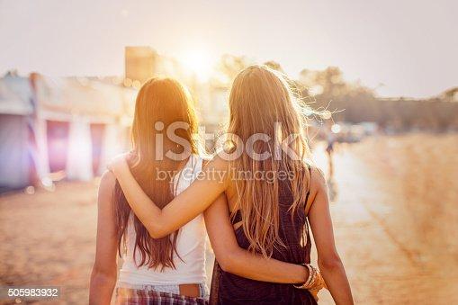istock Best friends on the best summer festival 505983932