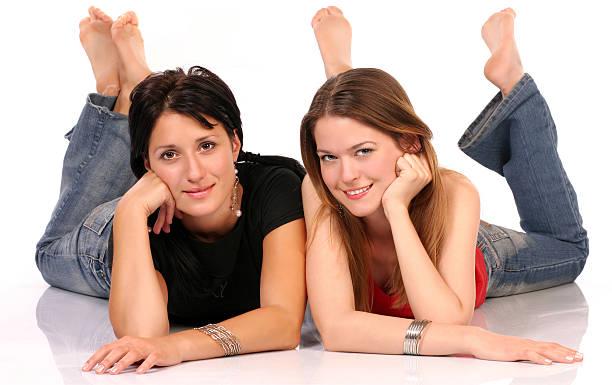 Barefoot lesbian
