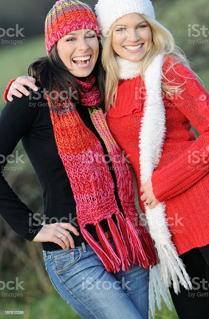 Best Friends, Portrait of Two Women, Outdoor (XXXL) royalty-free stock photo